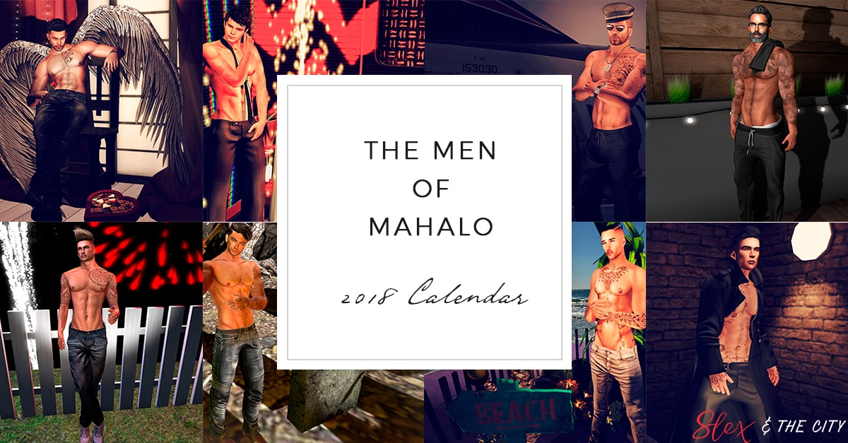 Second Life: The Men Of Mahalo Calendar 2018