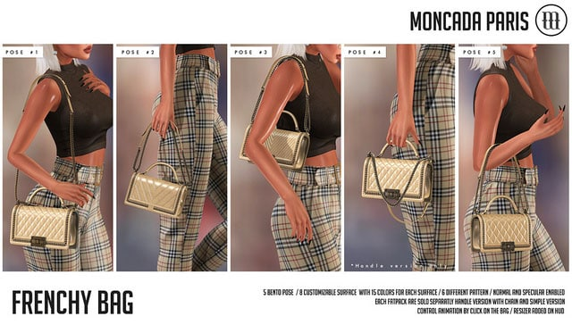 MONCADA PARIS New Release Frenchy Bag Access event Second Life