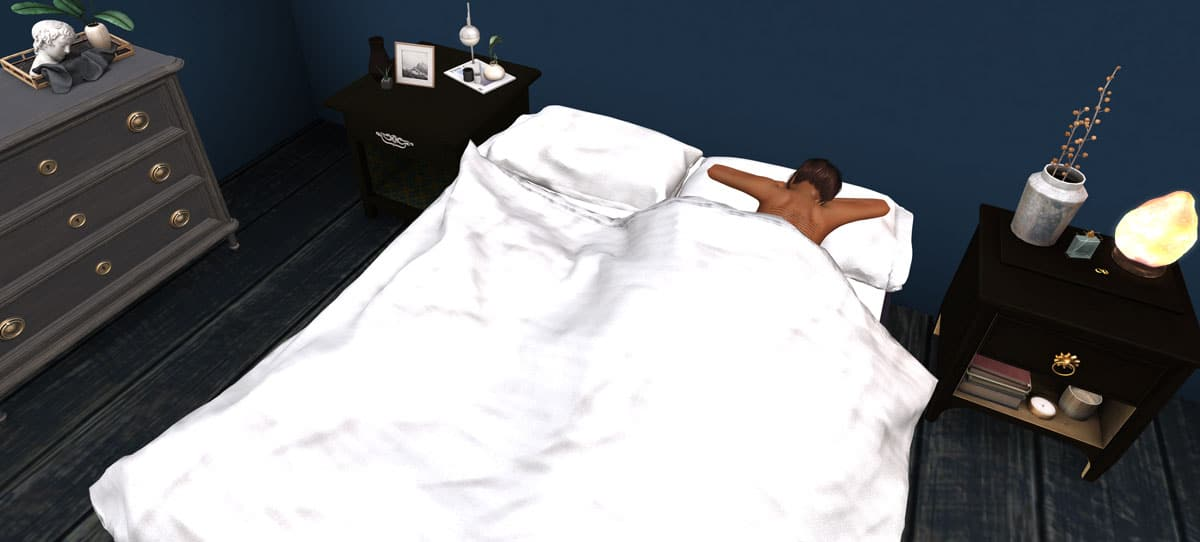 What are the best Second Life beds with 'under the covers' sleeping poses?